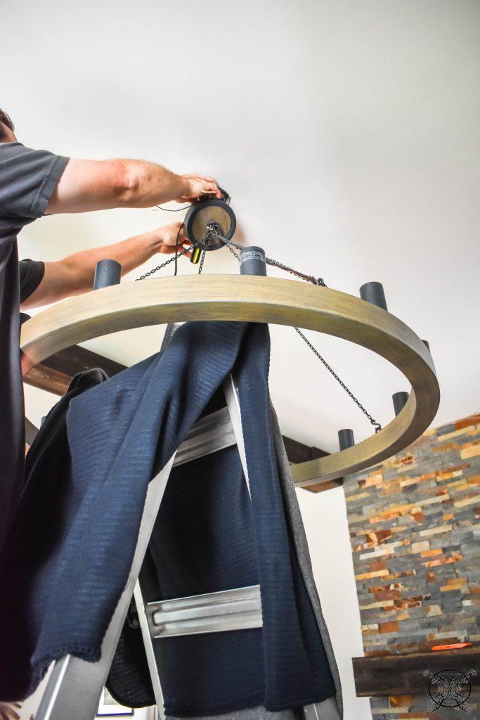 Installing New Lighting Chandelier JENRON DESIGNS