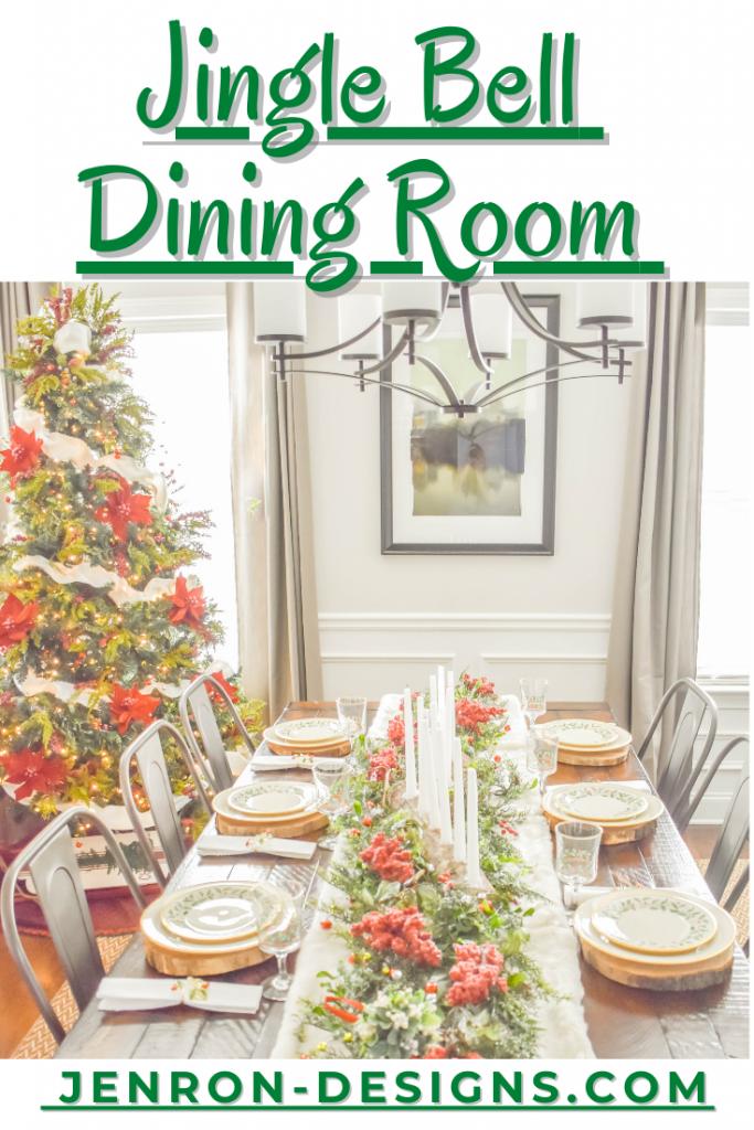 Jingle Bell Dining Room & Tree Pin JENRON DESIGNS