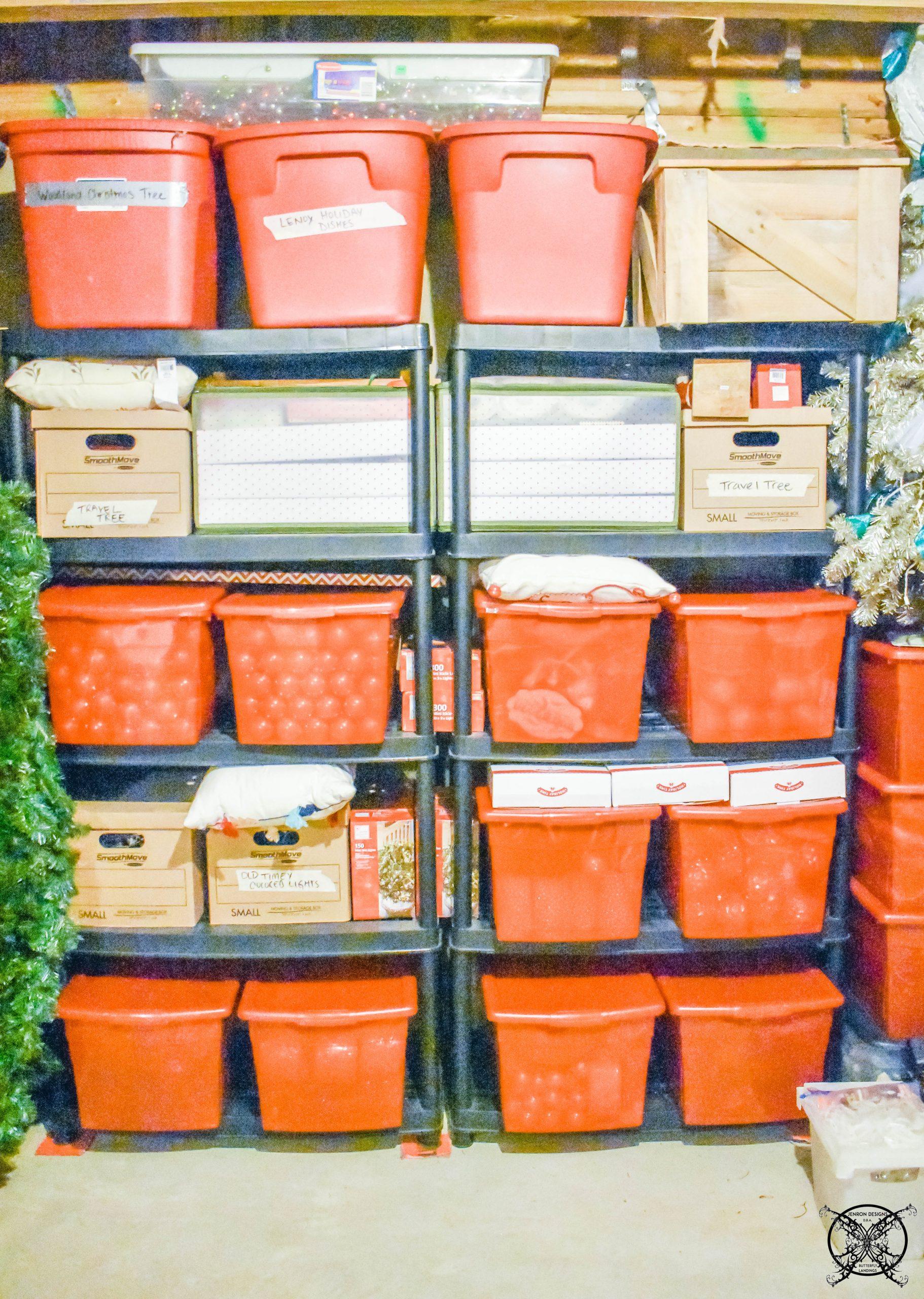 Organizing Holiday Decor Totes JENRON DESIGNS