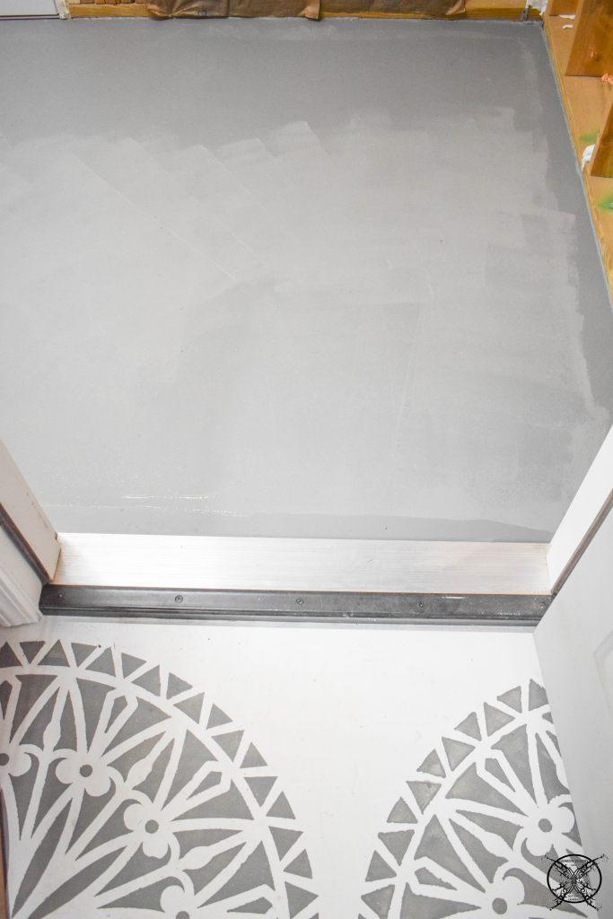 Concrete Paint to Match adjancent floor JENRON DESIGNS