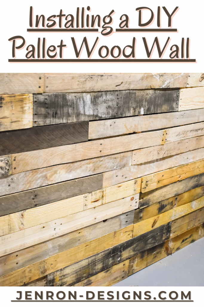 Installing a Pallet Wood Wall JENRON DESIGNS pin