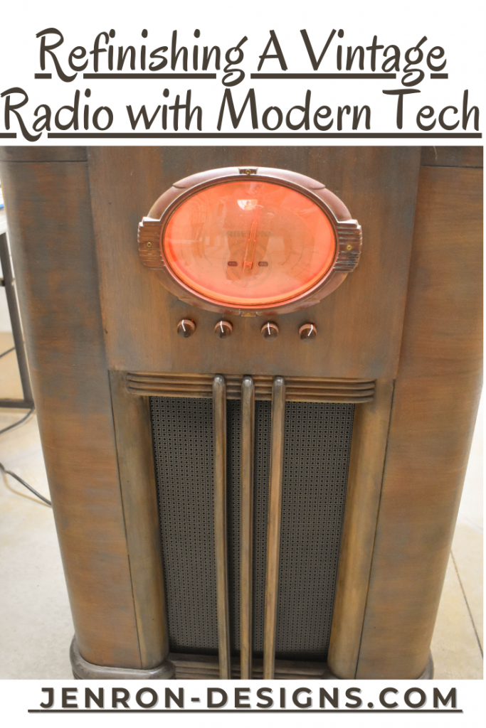 Refinishing VIntage Radio with Modern Tech JENRON DESIGNS