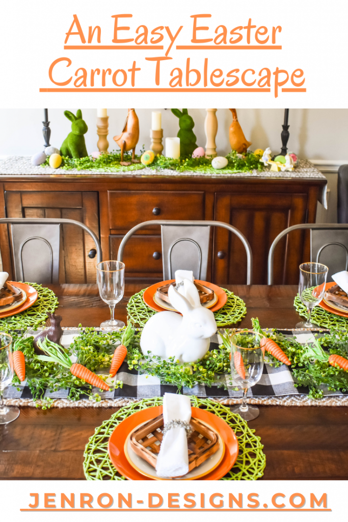 An Easy Easter Carrot Tablescape JENRON DESIGNS