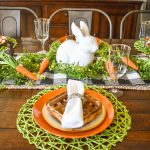 Bunny & Carrot Tablescape JENRON DESIGNS