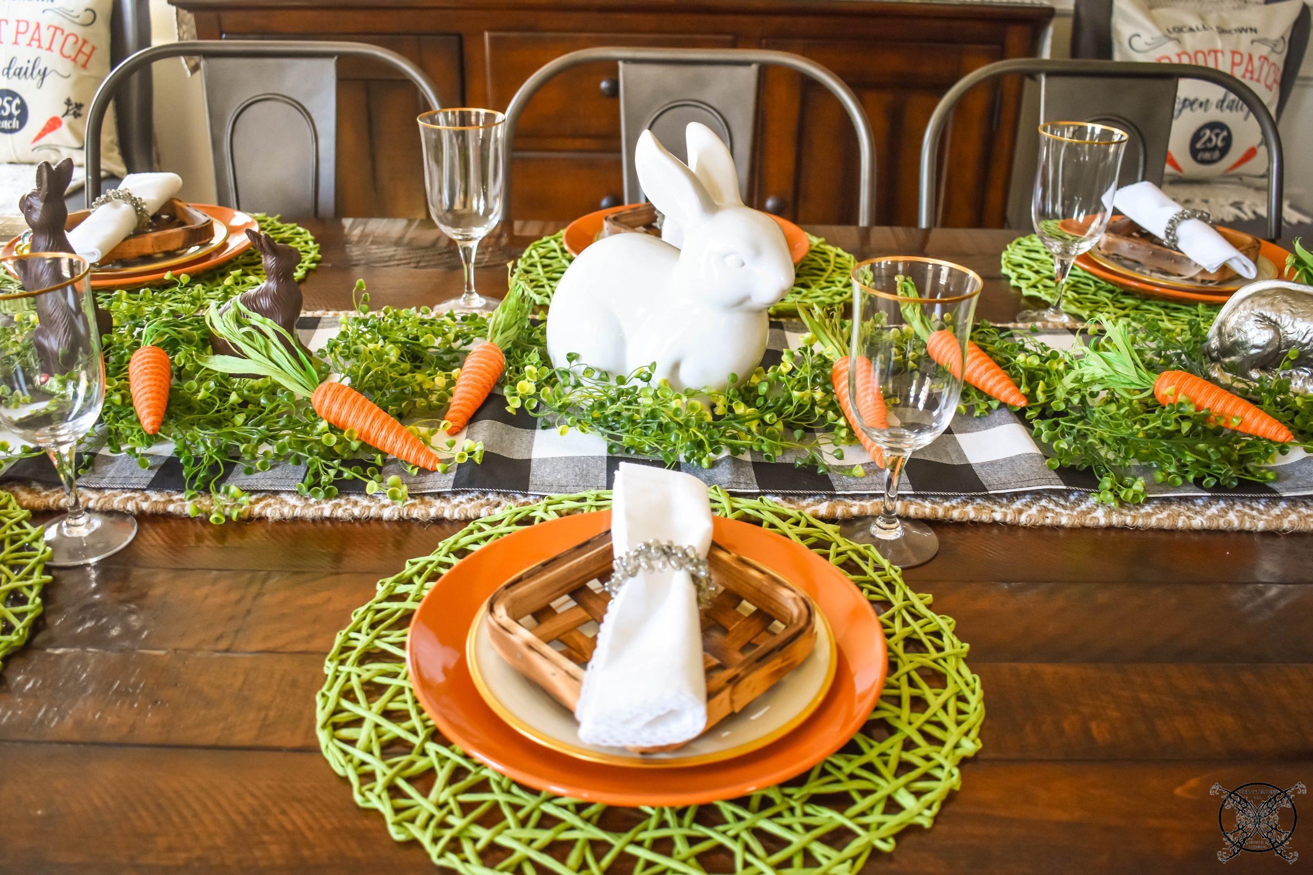 Bunny & Carrot Tablescape JENRON DESIGNS