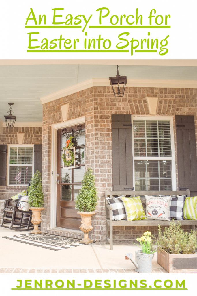 Easy Easter Into Spring Front Porch JENRON DESIGNS