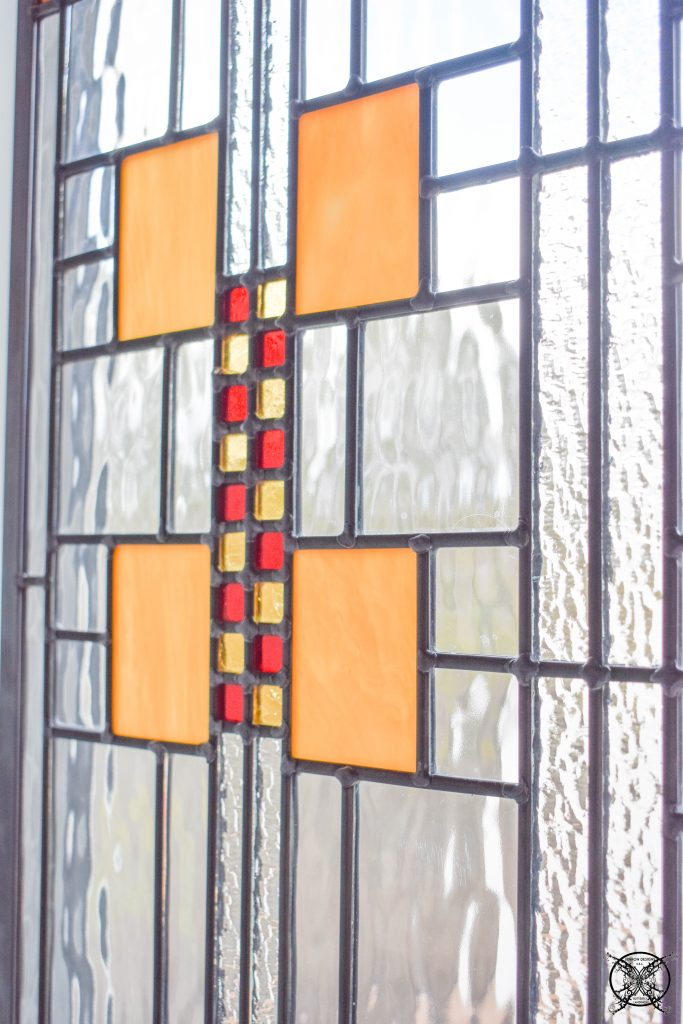 Master Bathroom Adding Stained Glass Windows JENRON DESIGNS