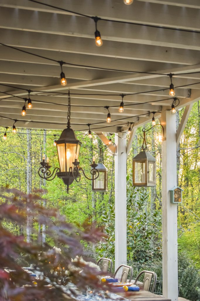 Ambiant Chandelier & Outdoor Globe Lights JENRON DESIGNS.