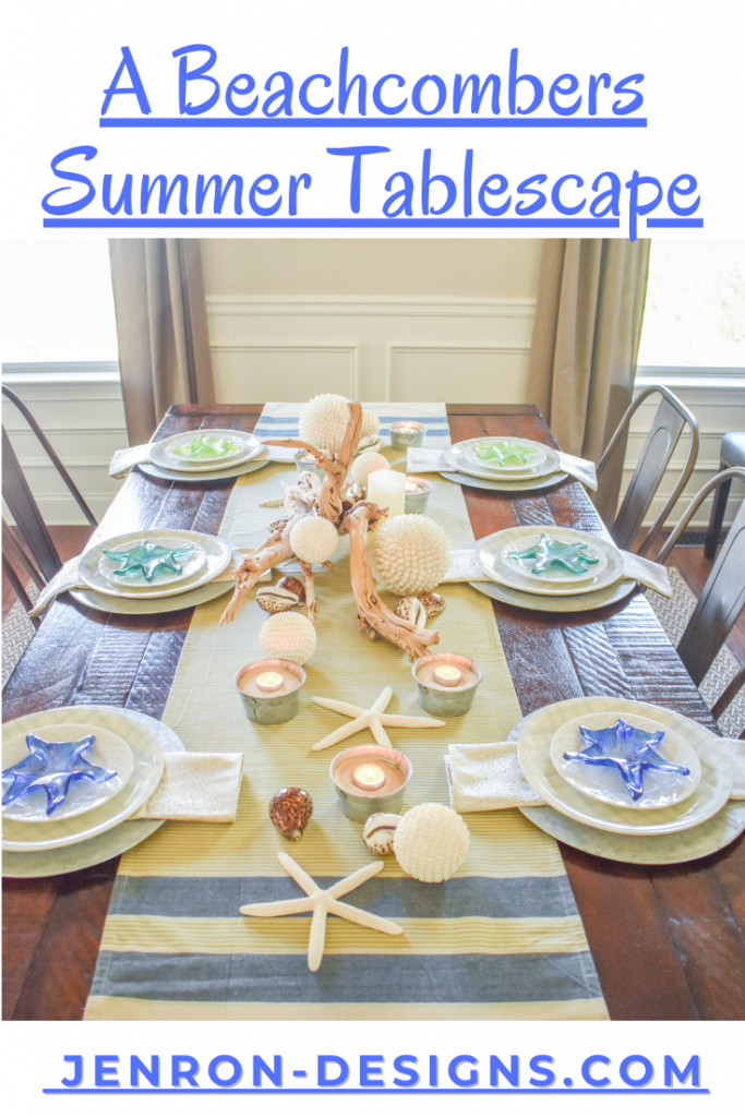 Beachcombers Summer Tablescape JENRON DESIGNS
