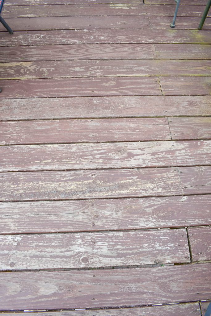 Before Deck Boards 6month after staining JENRON DESIGNS