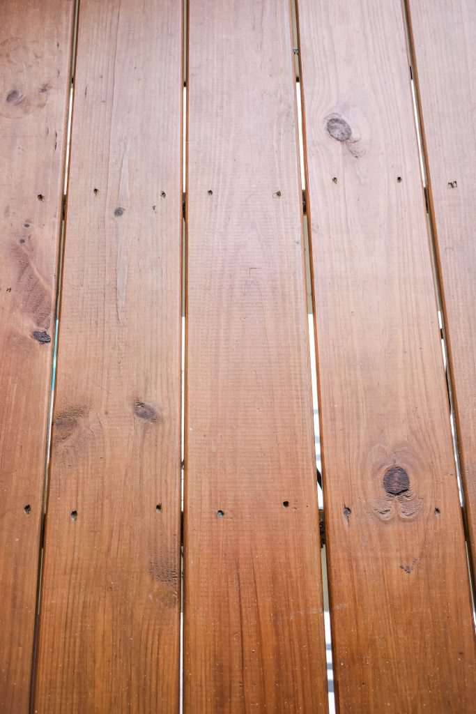 Oringal Stain on Deck JENRON DESIGNS