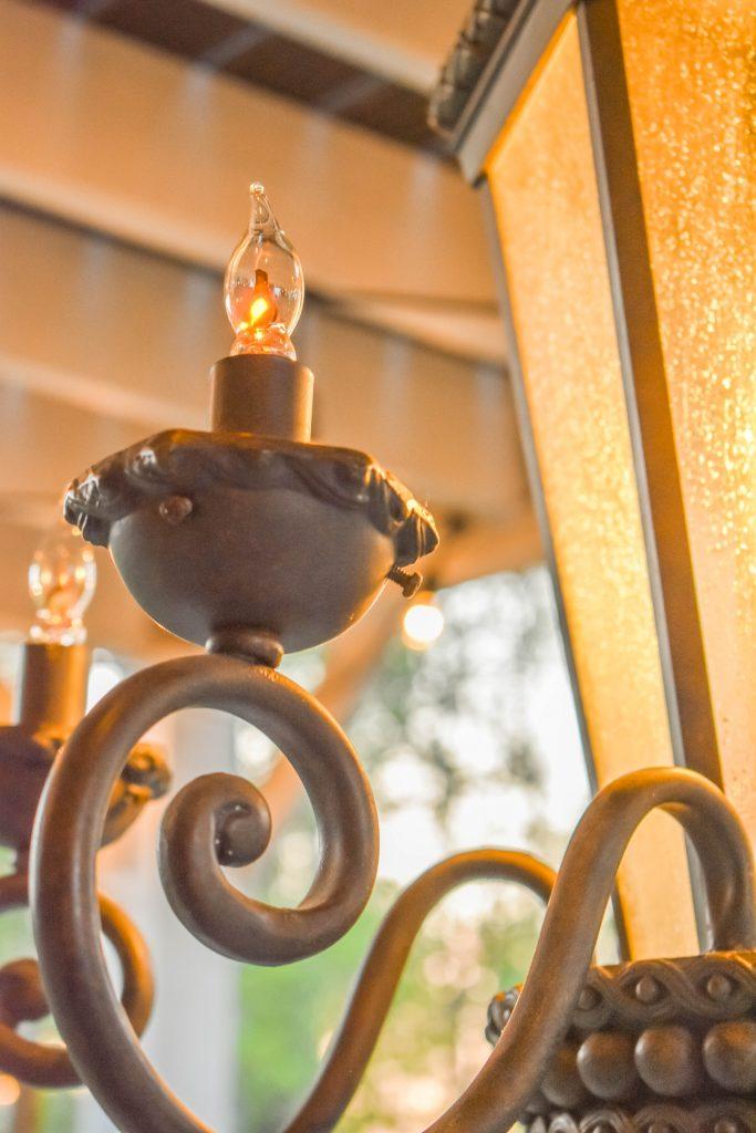 Outdoor Flicker Globe Lights JENRON DESIGNS.