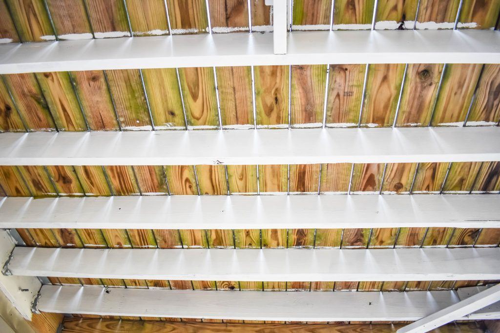 Painting the Underside of Deck Joist JENRON DESIGNS