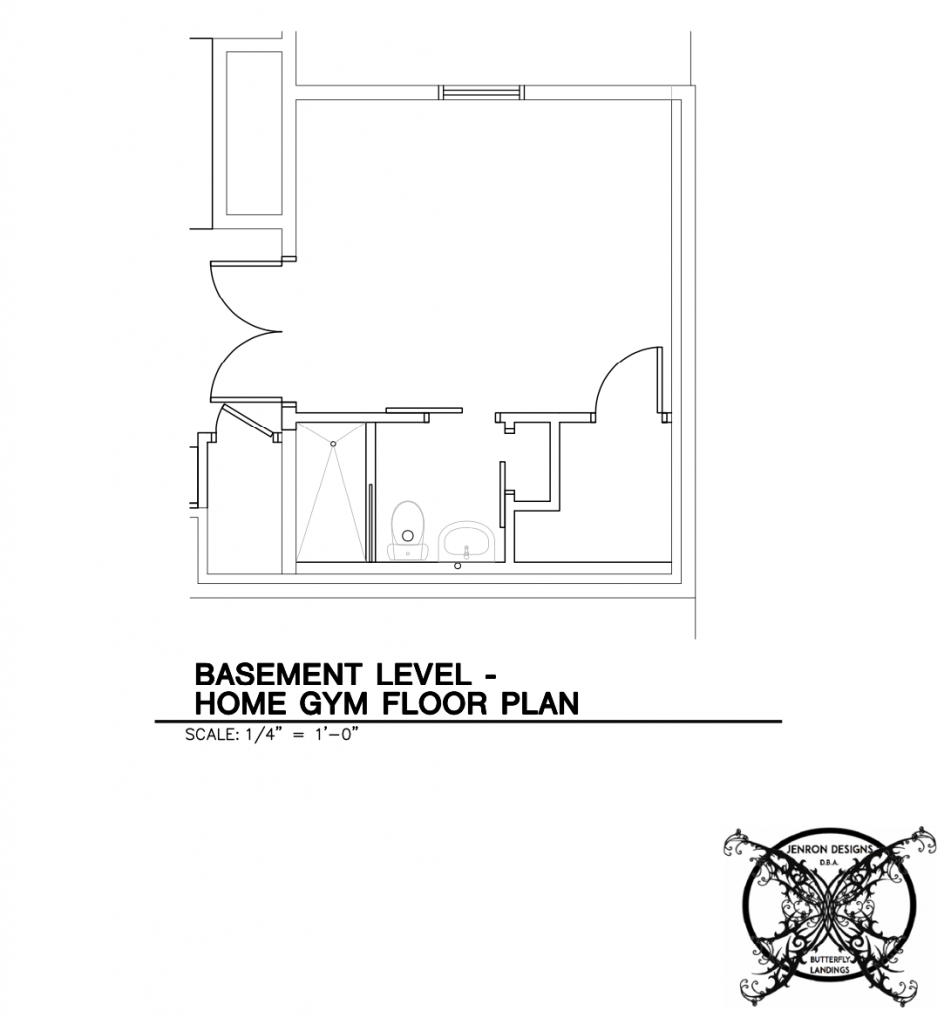Blueprint Home Gym Basement JENRON DESIGNS