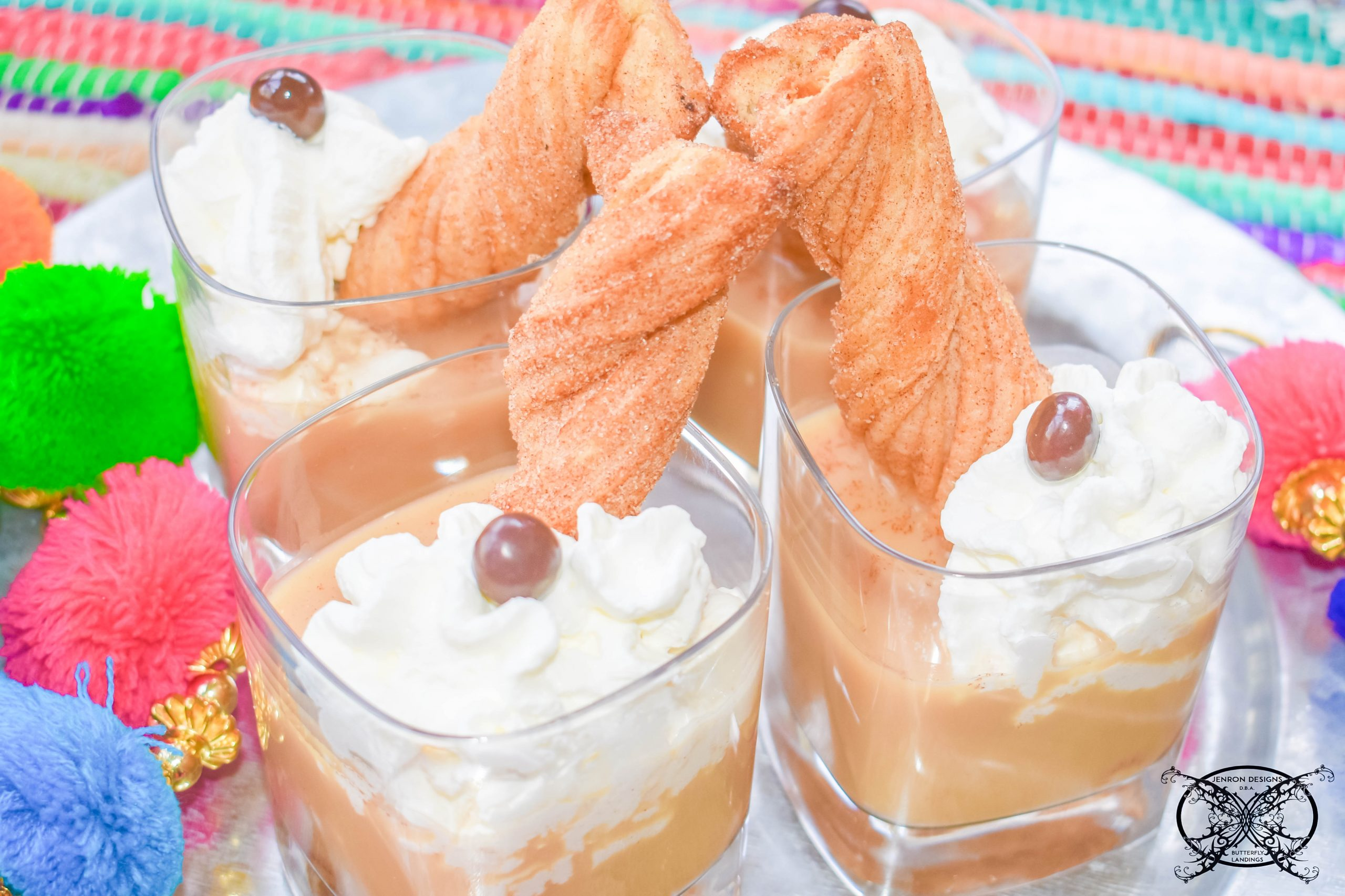 Cafe Ole' Cocktail With Churro Dunkers JENRON DESIGNS