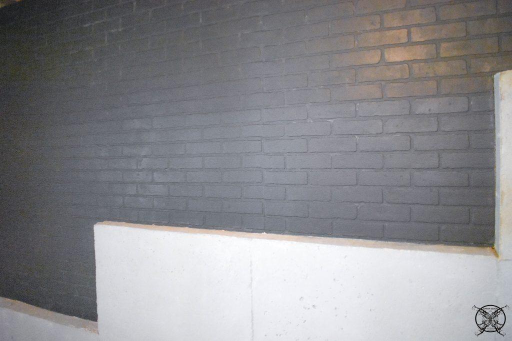 Painted Black Brick wall JENRON DESIGNS