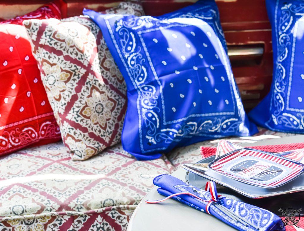 Bandana Pillows for 4th of July JENRON DESIGNS
