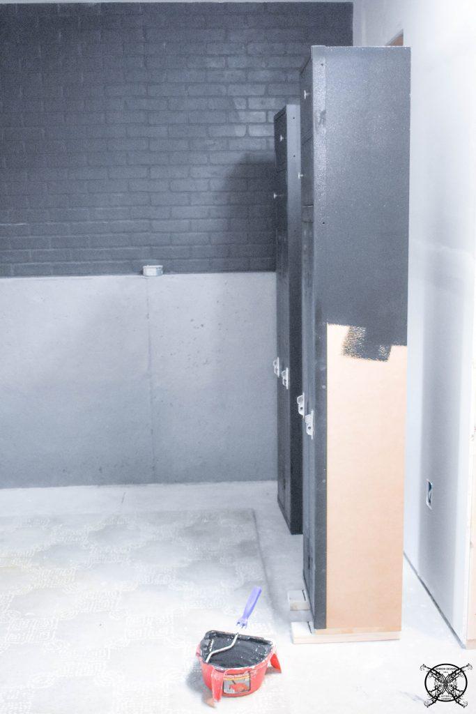 Painting MDF Sides Vintage Locker JENRON DESIGNS