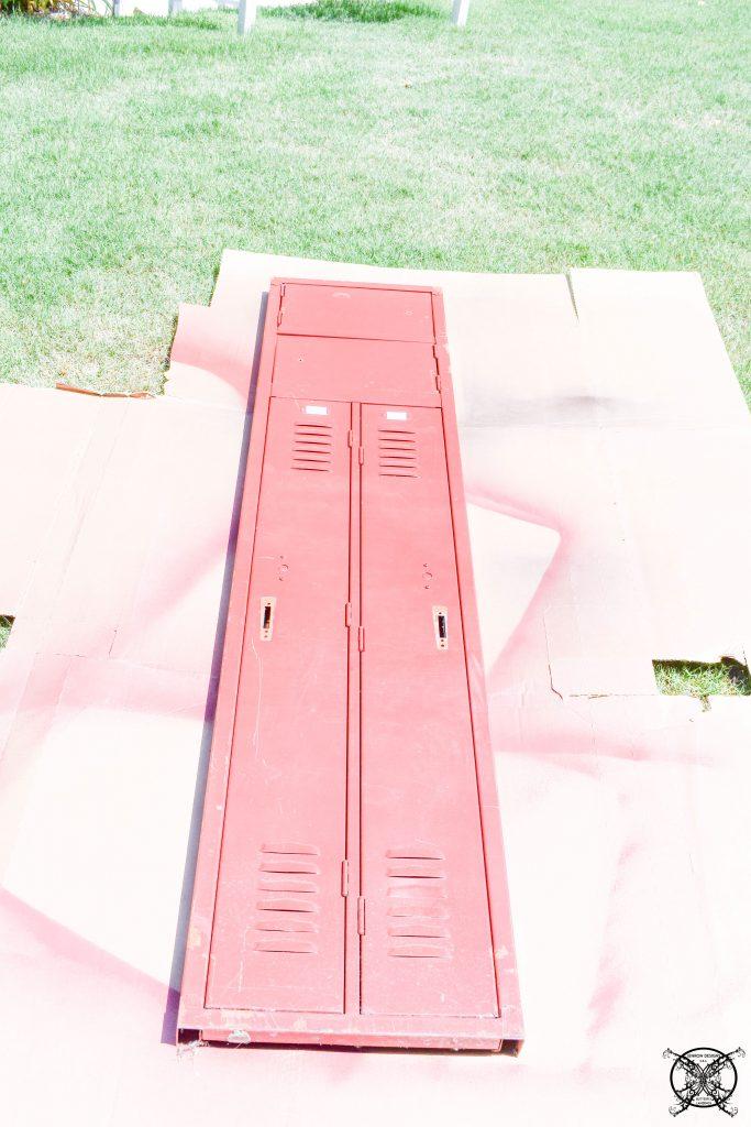 Red To Black Vintage Locker JENRON DESIGNS