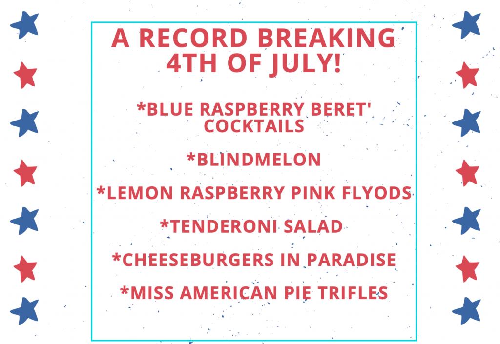 Record Breaking 4th of July Menu JENRON DESIGNS