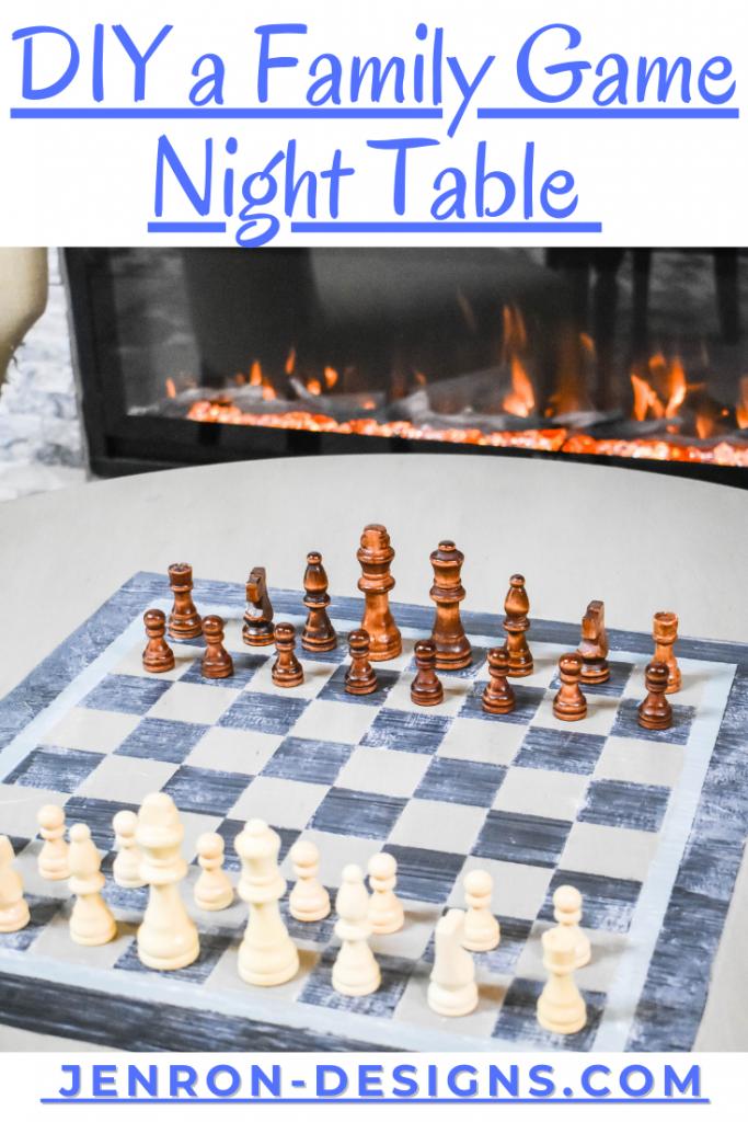 Family Game NIght Table DIY JENRON DESIGNS