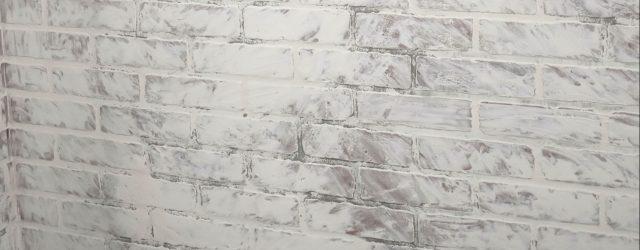 German Schmear Dry on Faux Brick JENRON DESIGNS