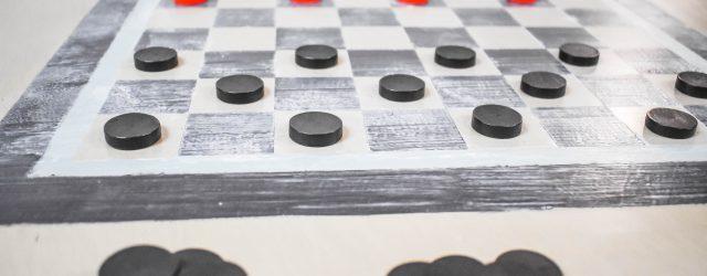 GAME TABLE DIY CHECKERBOARD JENRON DESIGNS.