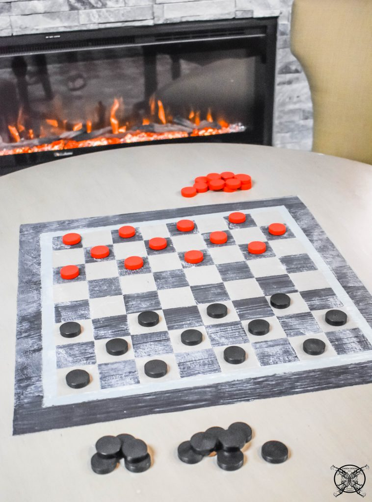 GAME TABLE DIY CHESS:CHECKER BOARD JENRON DESIGNS.
