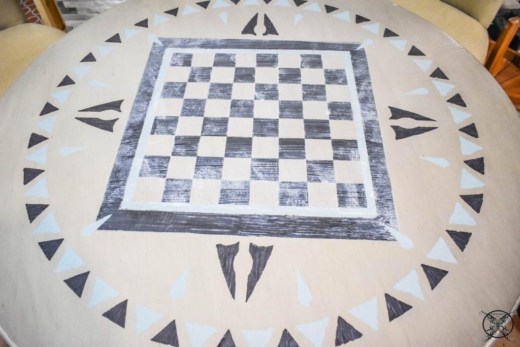 GAME TABLE DIY FINISHED BORDER JENRON DESIGNS.