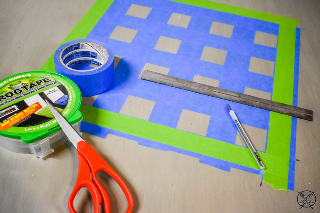 GAME TABLE DIY TAPE OFF JENRON DESIGNS.