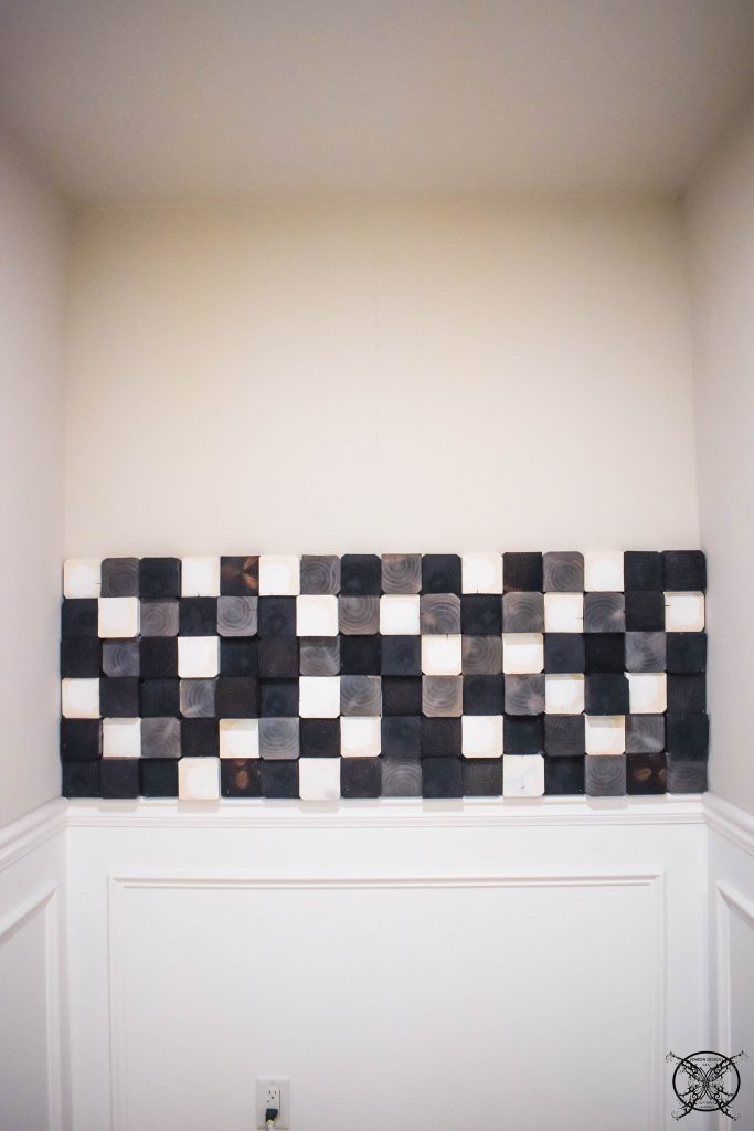 Half up the wall with 4x4 wood JENRON DESIGNS