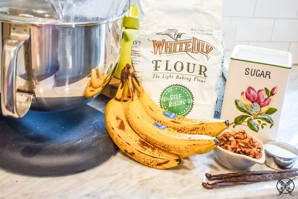 Ingredients for Banana Bread JENRON DESIGNS