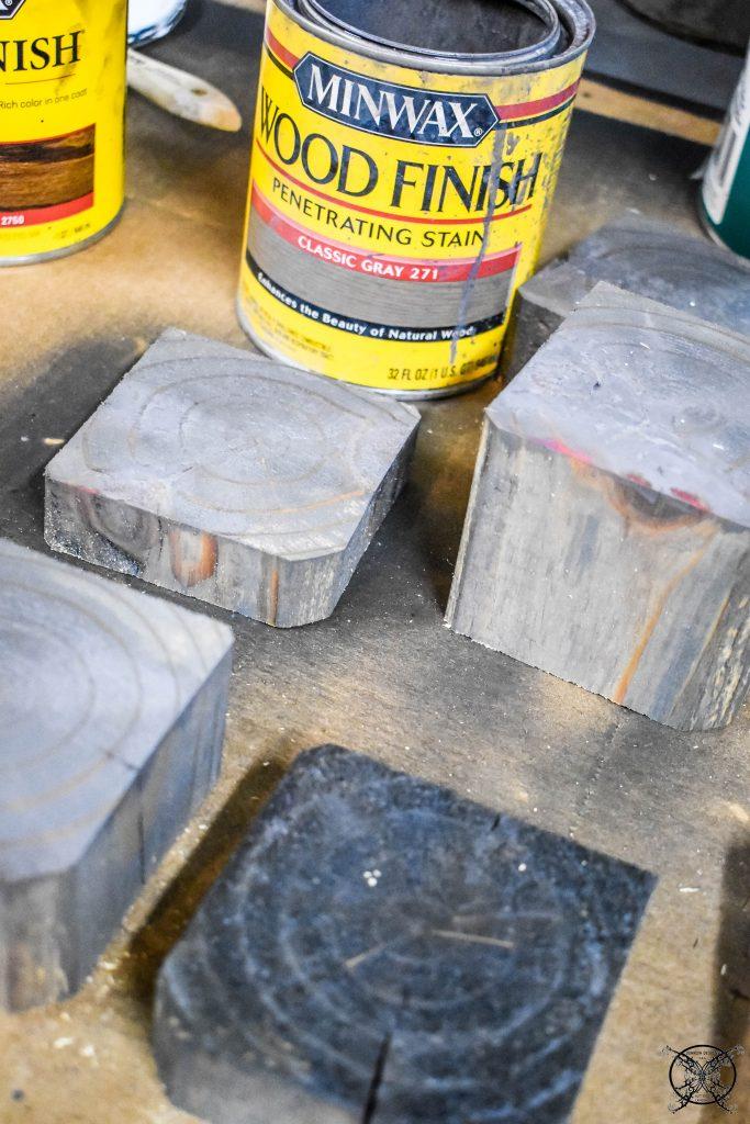 Staining 4x4 blocks JENRON DESIGNS