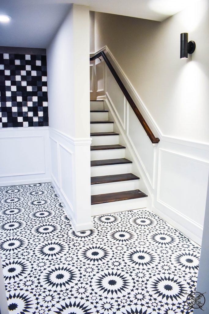 FINISHED STENCILING A FLOOR JENRON DESIGNS
