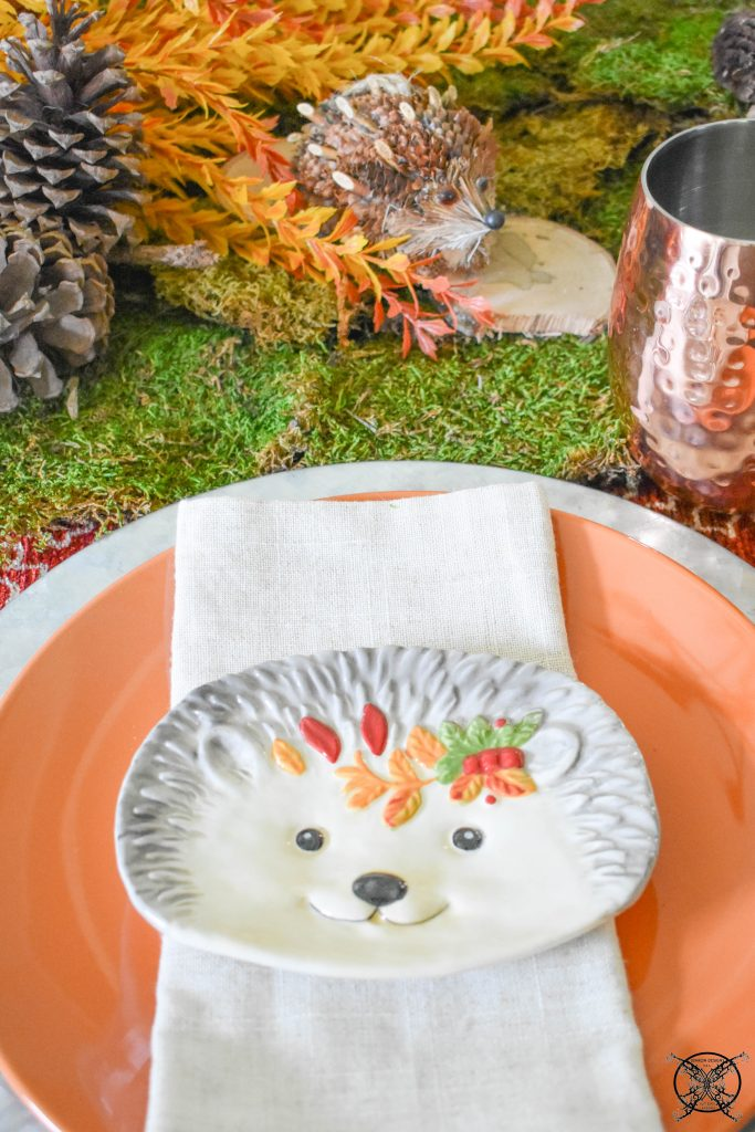Matching plates and Creatures Woodland Tablescape JENRON DESIGNS
