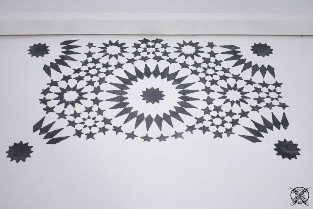 STENCILING A FLOOR FIRST SQUARE JENRON DESIGNS