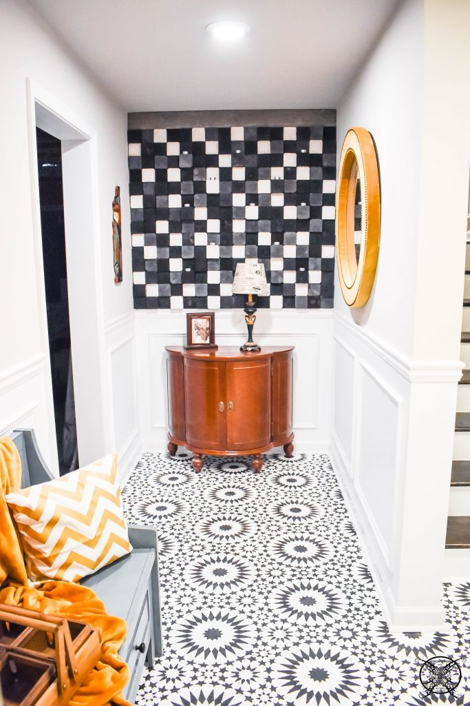 Stenciled Floor Reveal JENRON DESIGNS
