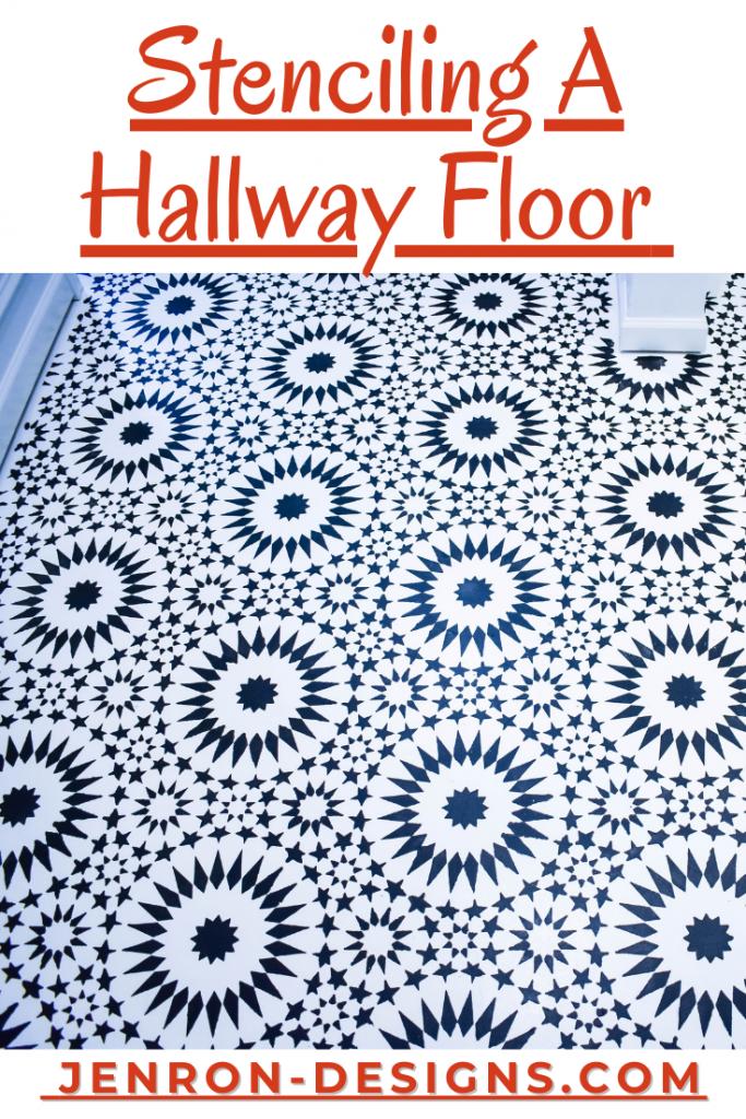 Stenciling A Hallway Floor JENRON DESIGNS