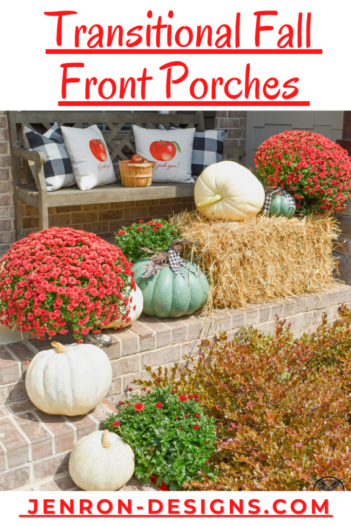 Transitional Fall Front Porches JENRON DESIGNS