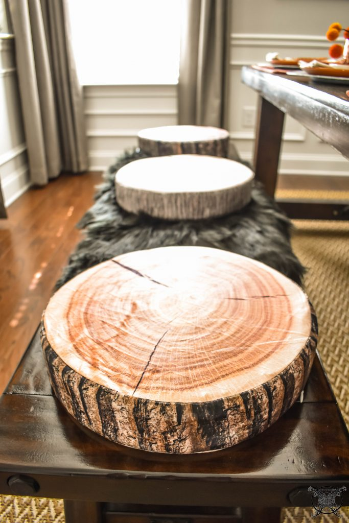 Woodland Tree Ring Cushions JENRON DESIGNS