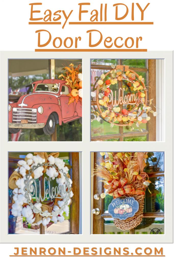 Easy Fall DIY Door Decor JENRON DESIGNS