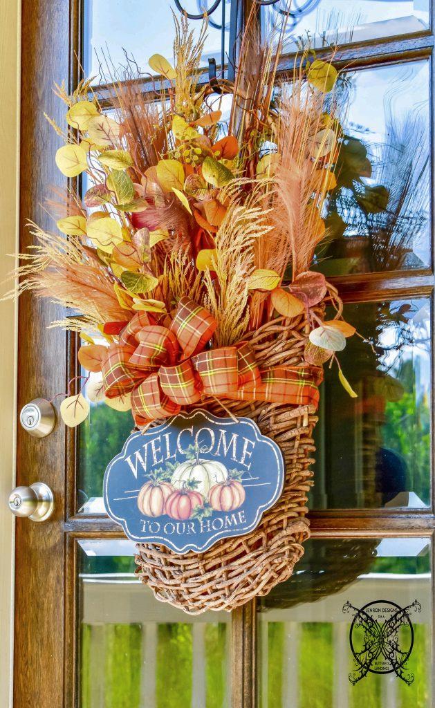 Fall Harvest Door Basket JENRON DESIGN