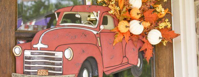 Fall Truck Wreath JENRON DESIGNS